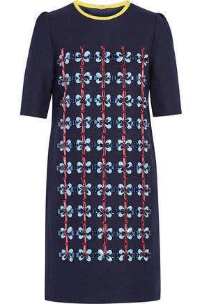 MOTHER OF PEARL Embellished wool-blend mini dress