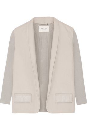 HALSTON HERITAGE Rib-paneled wool-felt jacket