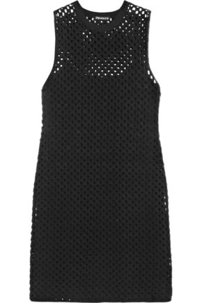 THEORY Natialee crocheted cotton-blend mini dress