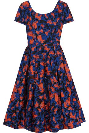 MARY KATRANTZOU Copelia pleated fil coupé organza dress