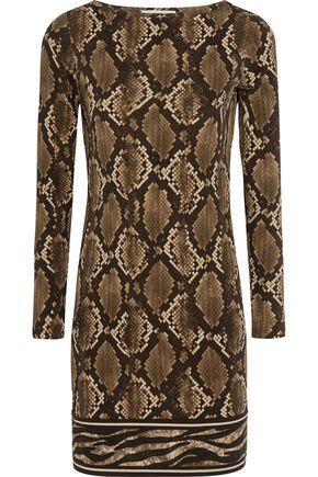 MICHAEL MICHAEL KORS Snake-print stretch-jersey mini dress