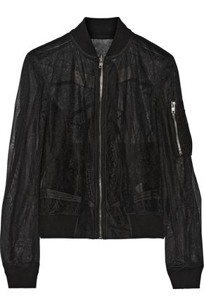 RICK OWENS Messiah embroidered tulle bomber jacket