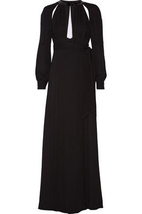 MAISON MARGIELA Cutout chiffon-paneled crepe gown
