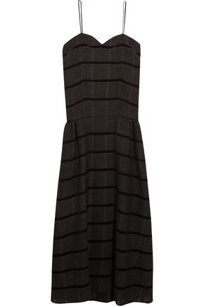 STUDIO NICHOLSON Bradford striped wool-blend dress