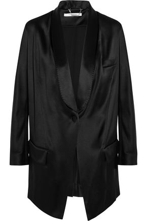 GIVENCHY Blazer in black silk-satin