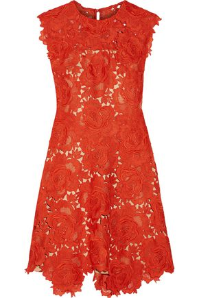 CATHERINE DEANE Elina guipure lace mini dress