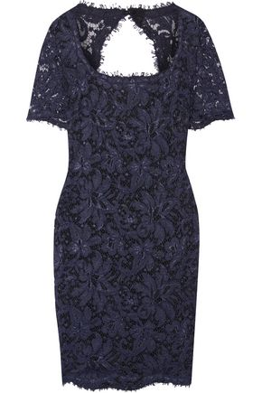 EMILIO PUCCI Cutout lace mini dress