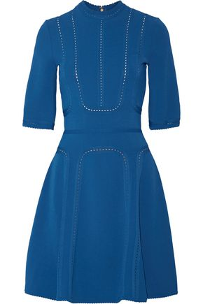 ELIE SAAB Pointelle-trimmed stretch-ponte dress