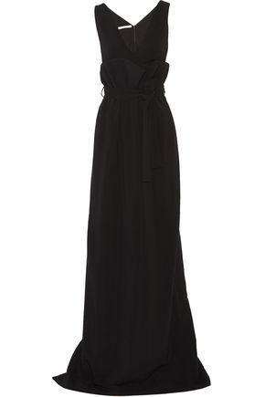 ANTONIO BERARDI Gathered layered crepe gown
