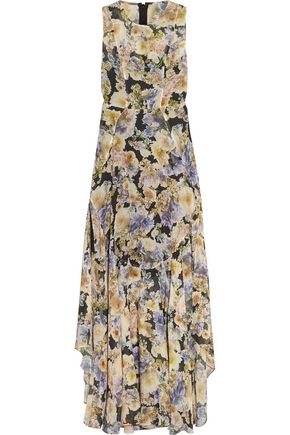 NEEDLE & THREAD Floral-print chiffon gown