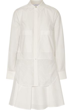 DEREK LAM 10 CROSBY Cotton-poplin shirt dress