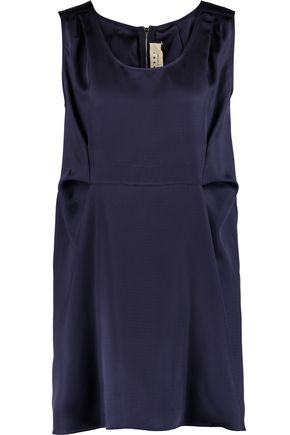 MARNI Pleated satin-twill mini dress