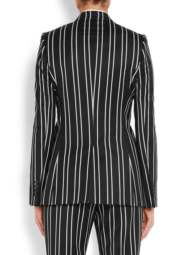 Blazer in black and white striped wool-jacquard | GIVENCHY | Sale up to 70%  off | THE OUTNET