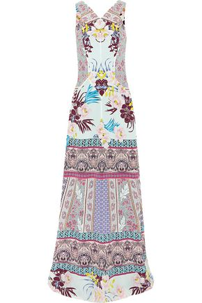 ETRO Printed silk-crepe maxi dress