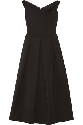 PREEN by THORNTON BREGAZZI Finella pleated stretch-crepe midi dress