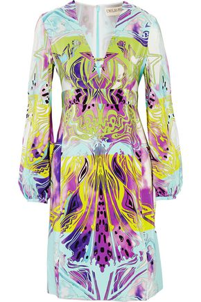 EMILIO PUCCI Printed silk-georgette dress