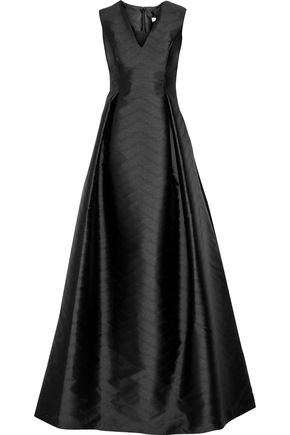 ALEXIS Dao perforated satin-twill gown