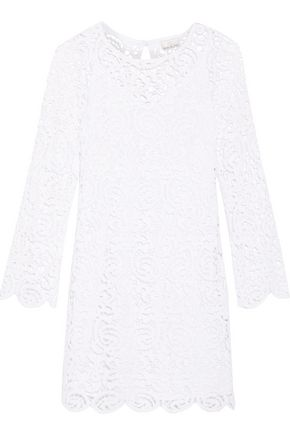 MIGUELINA Lydia cotton guipure lace mini dress