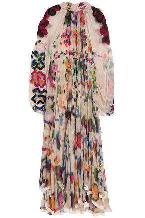 CHLOÉ Asymmetric printed silk-chiffon gown