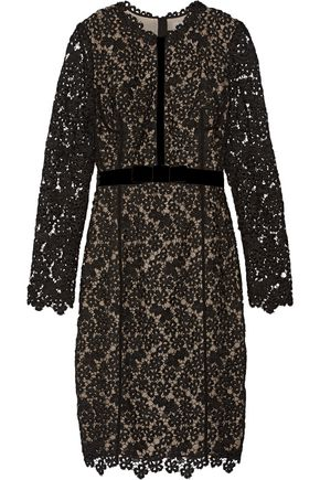 ERDEM Cherise embellished guipure lace and stretch-jersey dress