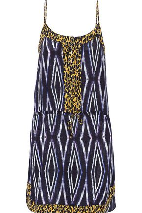 VIX Moorish Bisa printed washed silk crepe de chine dress