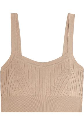 JIL SANDER Ribbed-knit bra top