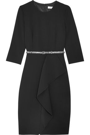 MAX MARA Ruffled stretch-wool dress