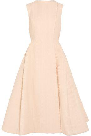 EMILIA WICKSTEAD Rio pleated bouclé wool-blend dress