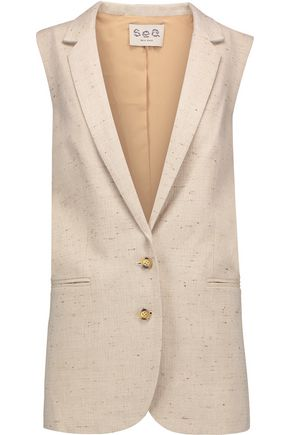 SEA Cotton-blend tweed vest
