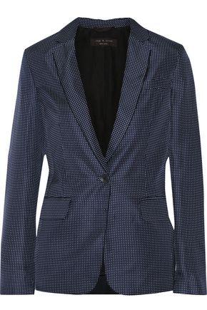 RAG & BONE Belmar printed silk-twill blazer