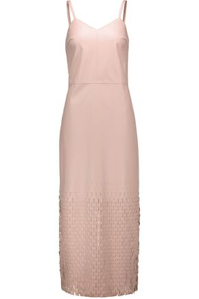 OPENING CEREMONY Laser-cut faux leather maxi dress