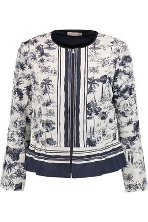 TORY BURCH Printed silk jacket