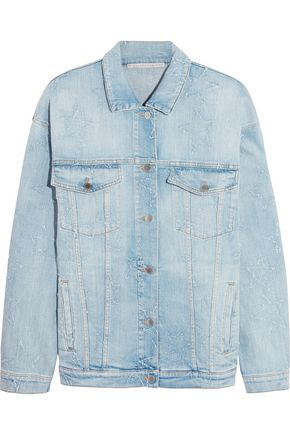 STELLA McCARTNEY Oversized distressed stretch-denim jacket