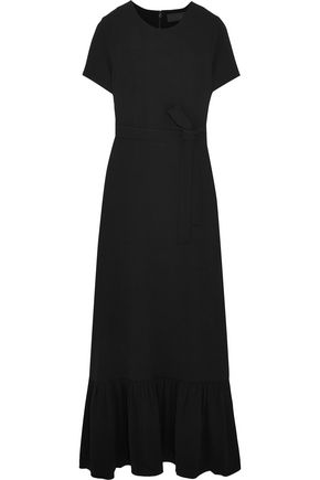 CO Belted crepe maxi dress