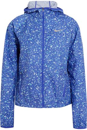 NIKE Shield printed shell hooded jacket