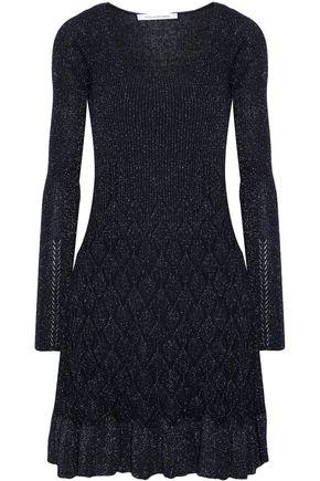 DIANE VON FURSTENBERG Perlita metallic stretch-knit dress