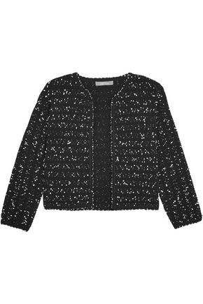 LELA ROSE Cropped bouclé-tweed jacket