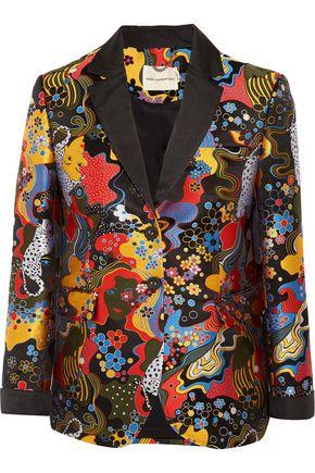 MARY KATRANTZOU Crest faille-trimmed jacquard blazer