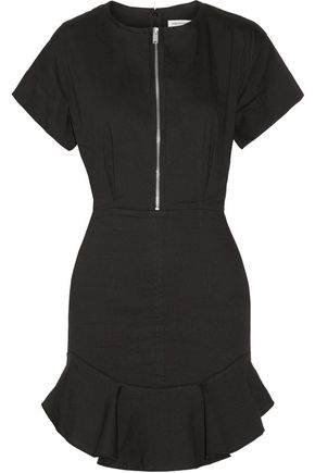 ISABEL MARANT ÉTOILE Neit ruffled stretch-twill mini dress