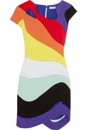 MUGLER Cutout crepe mini dress