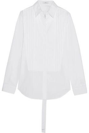 TOME Open-back cotton-poplin shirt