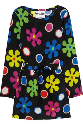 MOSCHINO Floral-print silk mini dress