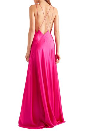 MICHAEL LO SORDO Alexandra silk-satin maxi dress