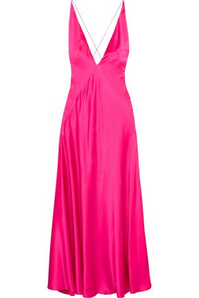 MICHAEL LO SORDO Alexandra silk-satin maxi dress