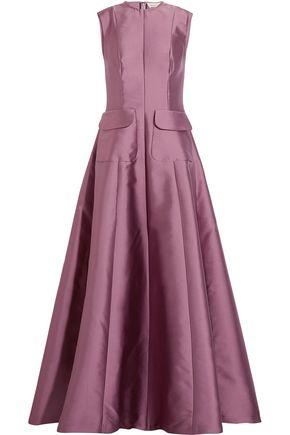 MERCHANT ARCHIVE Silk-blend duchesse-satin gown
