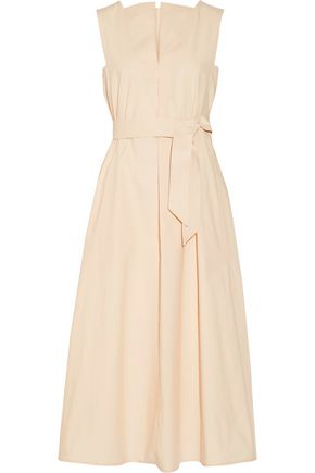LEMAIRE Belted cotton-poplin midi dress