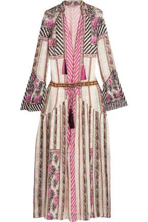 ETRO Embroidered silk-jacquard maxi dress