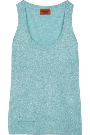 MISSONI Metallic crochet-knit tank
