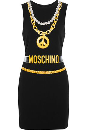 MOSCHINO COUTURE Printed crepe mini dress