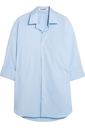 JIL SANDER Oversized striped cotton shirt